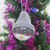 Cartoon Decorative Christmas Hanging Ball - GRAY