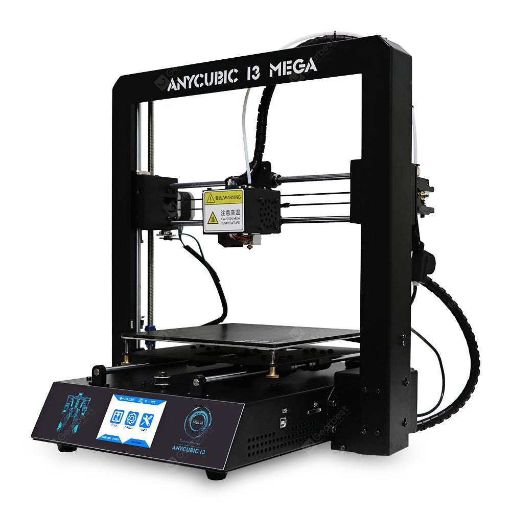 Anycubic I3 MEGA Full Metal Frame FDM 3D Printer - WHITE AND BLACK EU PLUG