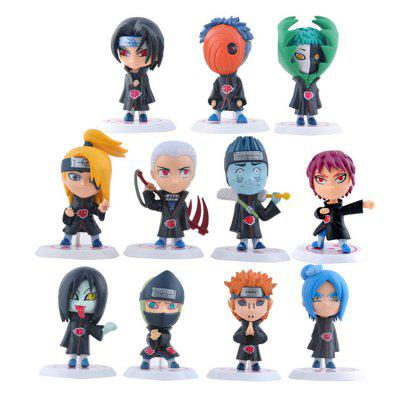 Animation Action Figure Design Toy Resin Model - 11pcs / set