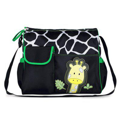 Giraffe Pattern Large Capacity Diaper Bag for Baby Care