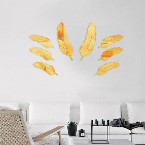 3d leather mirror mural decal home decor wall sticker - $2.66 free