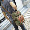 Kabden 7015 Canvas Leisure Shoulder Sling Bag Handbag - ARMY GREEN