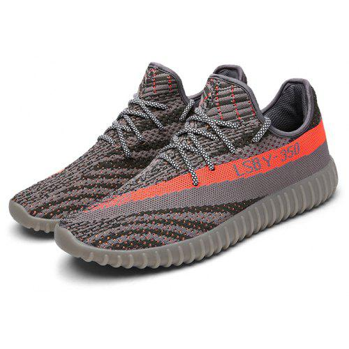 52e35aed7a94 Male Breathable Anti Slip Knitted Light Sports Sneakers