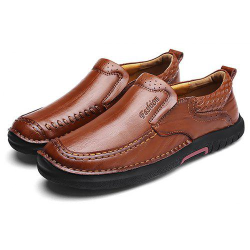 On Oxford Soft ShoesBrun Respirable Slip Casual 43 rouge Grained Male 3ARqS4Lc5j