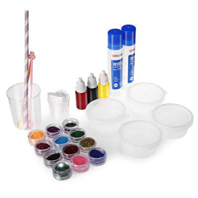 Creative Crystal Soil Paint Glue Slug DIY Toy 15pcs / set