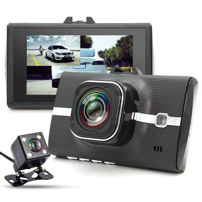 Refurbished JUNSUN H3 Car Dual Lens FHD 1080P GPS DVR