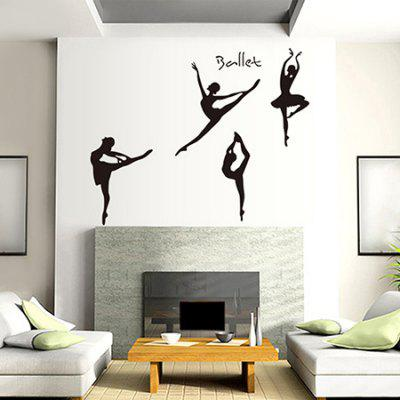 LAIMA QT0126 Removable Ballet Girl Wall Sticker