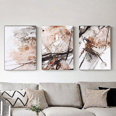 3PCS Colourful Abstract Style Printed Painting Canvas Print