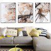 3PCS Colourful Abstract Style Printed Painting Canvas Print - COLORMIX