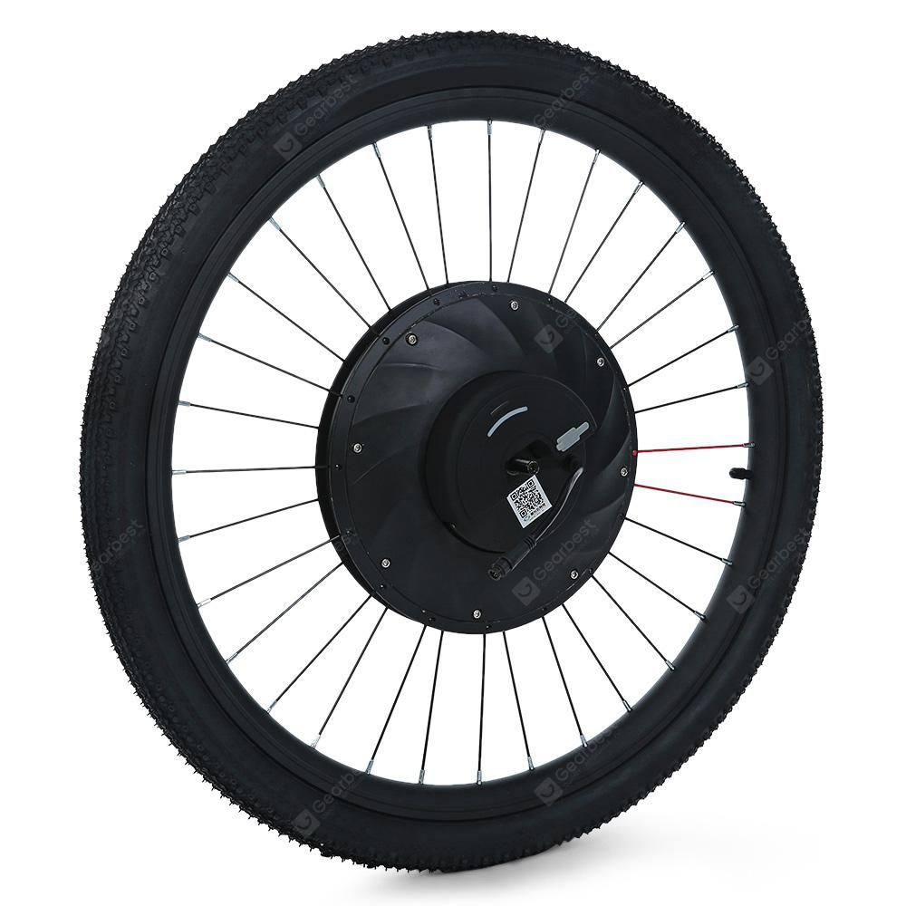 YUNZHILUN 36V - X iMortor 26 inch Smart Front Electric Bike Wheel E-bike - BLACK