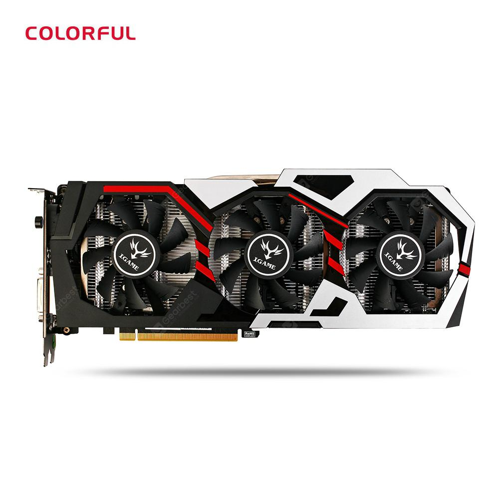 Original GeForce iGame GTX 1080 UT V2 Top Colorful Graphics Card
