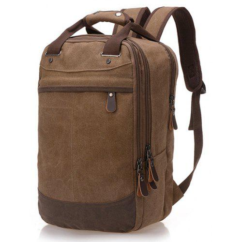 529d69e2bfaa Men Vintage Durable Leather-trimmed Canvas Backpack -  22.93 Free  Shipping