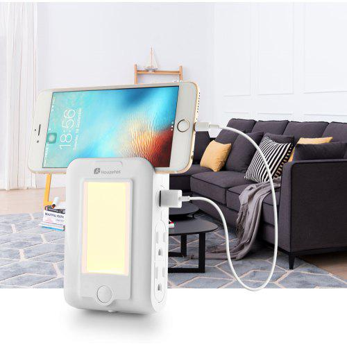 Houzetek Wall Mount Usb Charger Led Sensor Night Light