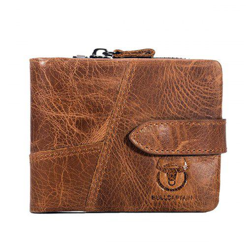... Coin Purses&Holders · Luggage&Travel Bags · Wallets. BULLCAPTAIN Men Vintage Genuine Leather Bifold Wallet with Buckle