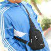 Men Simple Solid Color Nylon Shoulder Bag - BLACK