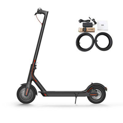 Gearbest Original Xiaomi M365 Folding Electric Scooter Europe Version - BLACK Ultralight Skateboard with E-ABS / Kinetic Energy Recovery / Cruise Control / Intelligent BMS