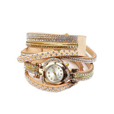 Trendy PU Strap Heart-shaped Women Quartz Watch