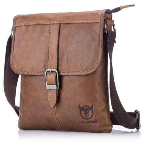 BULLCAPTAIN Men Business Genuine Leather Shoulder Bag
