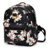 Femme Casual Papillon Flower Strap Backpack - NOIR