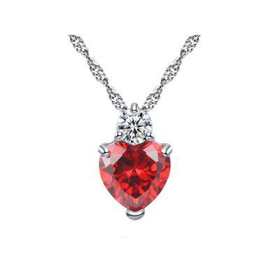 Elegant Love Heart Pendant Women Necklace