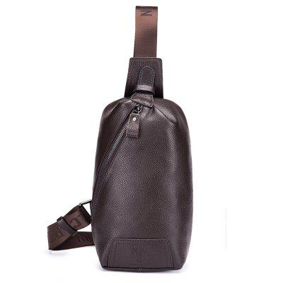 BULLCAPTAIN Men Leisure Genuine Leather Chest Bag