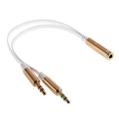 1-to-2 3.5mm Audio Adapter Cable for Headset / Flat Line