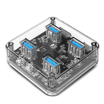 ORICO Station de Chargement Concentrateur Transparent à 4 Ports USB3.0