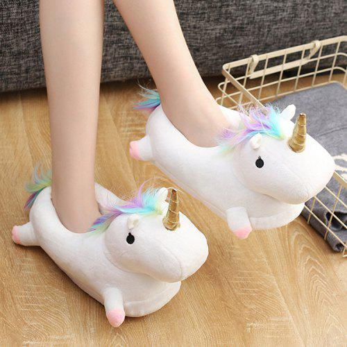 0ea59a284af Stylish Warmest Homelike LED Half Unicorn Slippers -  20.08 Free ...