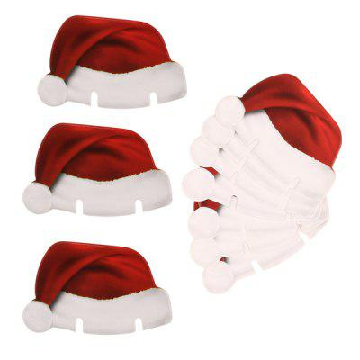 Christmas Champagne Wine Glass Cap Holiday Decor 10PCS