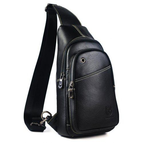 da76b4084e BULLCAPTAIN Men Business Genuine Leather Chest Bag -  29.87 Free  Shipping