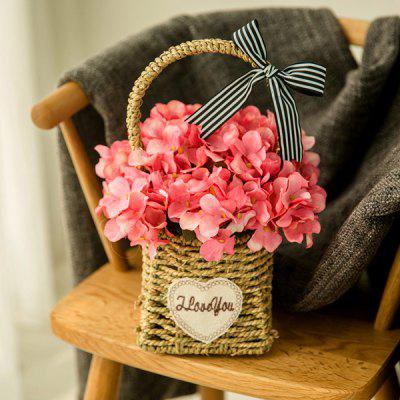 Home Decoration Artificial Flower with Plastic Basket
