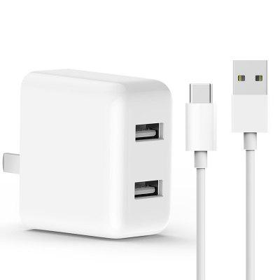 Original ZMI Double Charger + Type-C USB Cable ( Xiaomi Ecosystem Product )