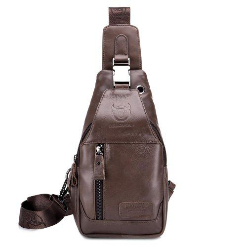 BULLCAPTAIN Men Anti-theft Leather Chest Bag