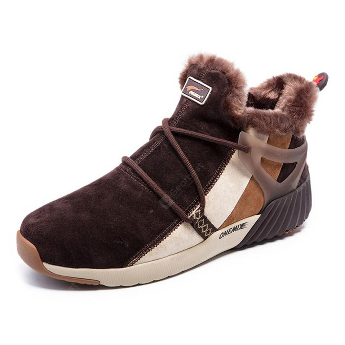 ONEMIX Couple Warmest Wool Sports Ankle-top Boots - $76.32 ...