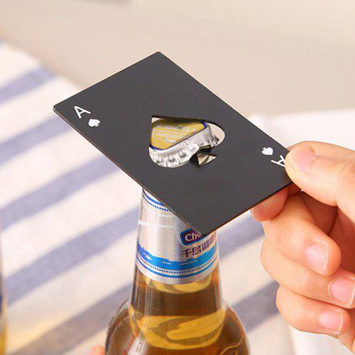 Playing Card Ace of Spades Style Beer Bottle Opener 2pcs