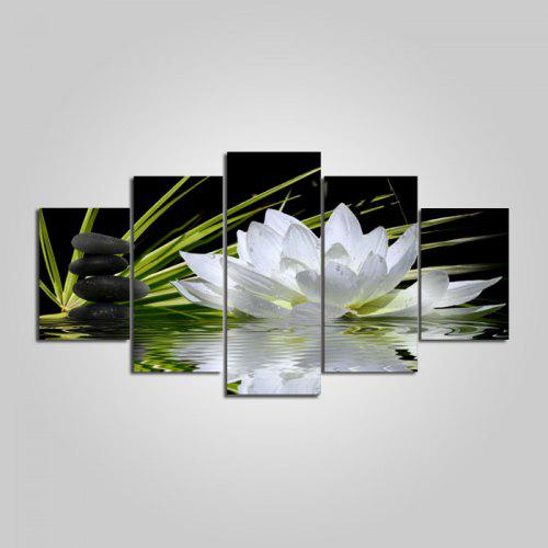 Unframed Canvas Prints Lotus Flower Hanging Wall Art 5pcs 1546