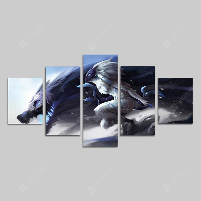 God Painting Modern Wolves Print 5PCS