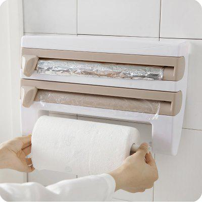 Storage Rack Plastic Wrap Paper Towel Wall-mounted Holder