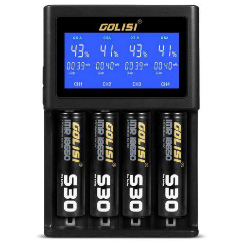 GOLISI S4 Smart Charger for Various Types Battery - BLACK EU PLUG