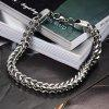 Stainless Steel Multi Strand Chain Men Bracelet - SILVER