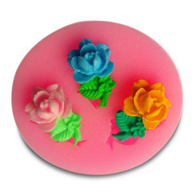 Facemile Rose Shape Cake Fondant DIY Silicone Mold 1pc