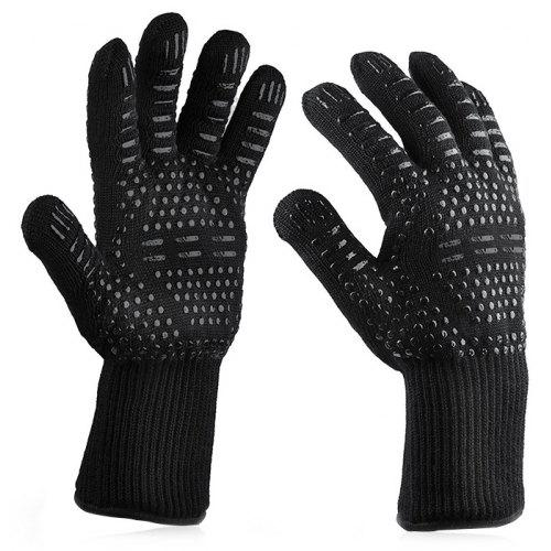 Black Point ROSE T BBQ Gloves Heat Resistant Figure Protect Hands Work Gloves Kitchen Accessories Oven Mitts for Grilling Cooking Fires 1 Pair