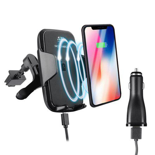 Gearbest siroflo F12 Wireless Fast Car Charger - BLACK