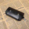 Men Fashion Retro PU Key Case Wallet - BLACK