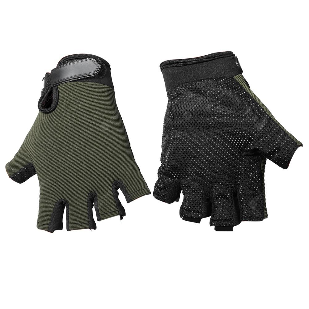 Pair of Half-finger Sports Cycling Gloves Male Adjustable Wrist | Gearbest