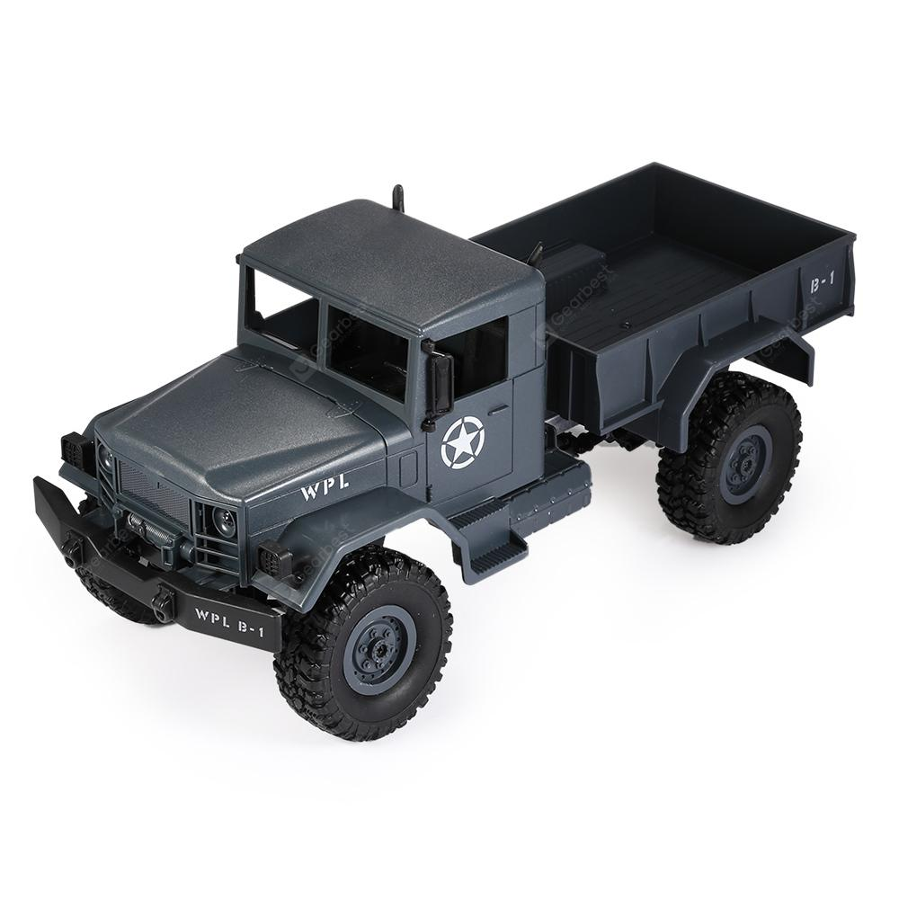 WPL B - 1 1:16 Mini Off-road RC Military Truck - RTR - BLUE GRAY