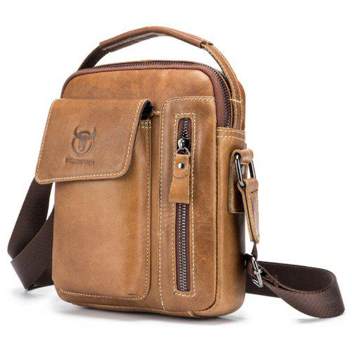 BULLCAPTAIN Men Genuine Leather Shoulder Bag