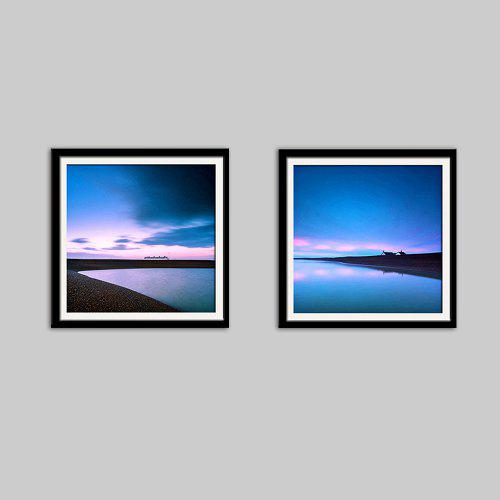 E - HOME Quiet Scenery Print Framed Canvas Wall Decor 2pcs - $83.84 ...