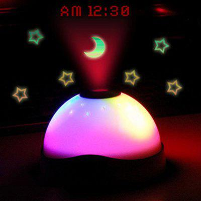 LED Stars Moon Projection Light with Clock