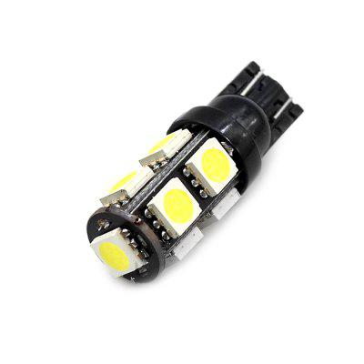 10Pcs White T10 W5W 9SMD 5050 Car Side Wedge Backup Reverse Tail Light LED Bulbs
